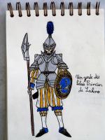 Dessin Un garde du Palais Princier de Lahno de Copnfl