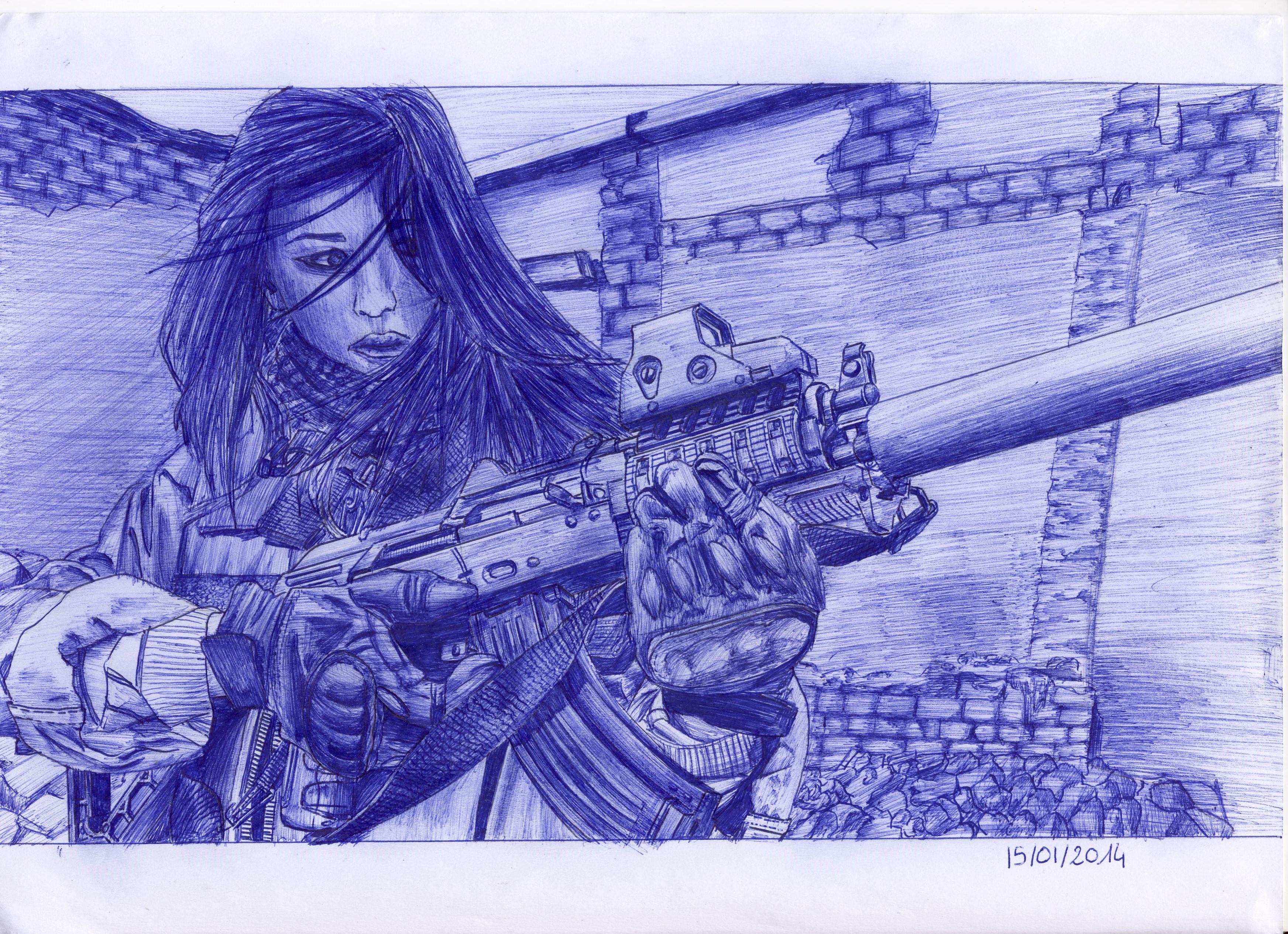 Dessin Soldier Woman de F0x_BzH