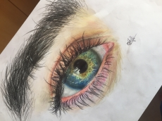 Dessin Oeil réaliste de Glaglux