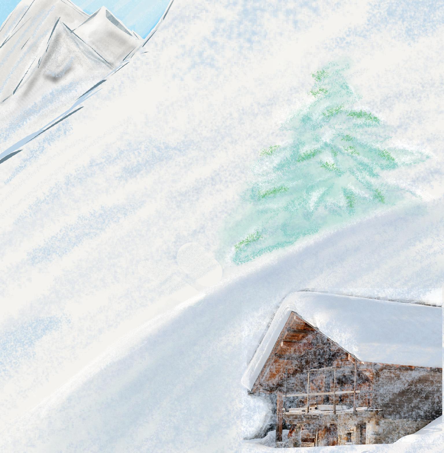 Dessin Chalet sous la neige de Noch38