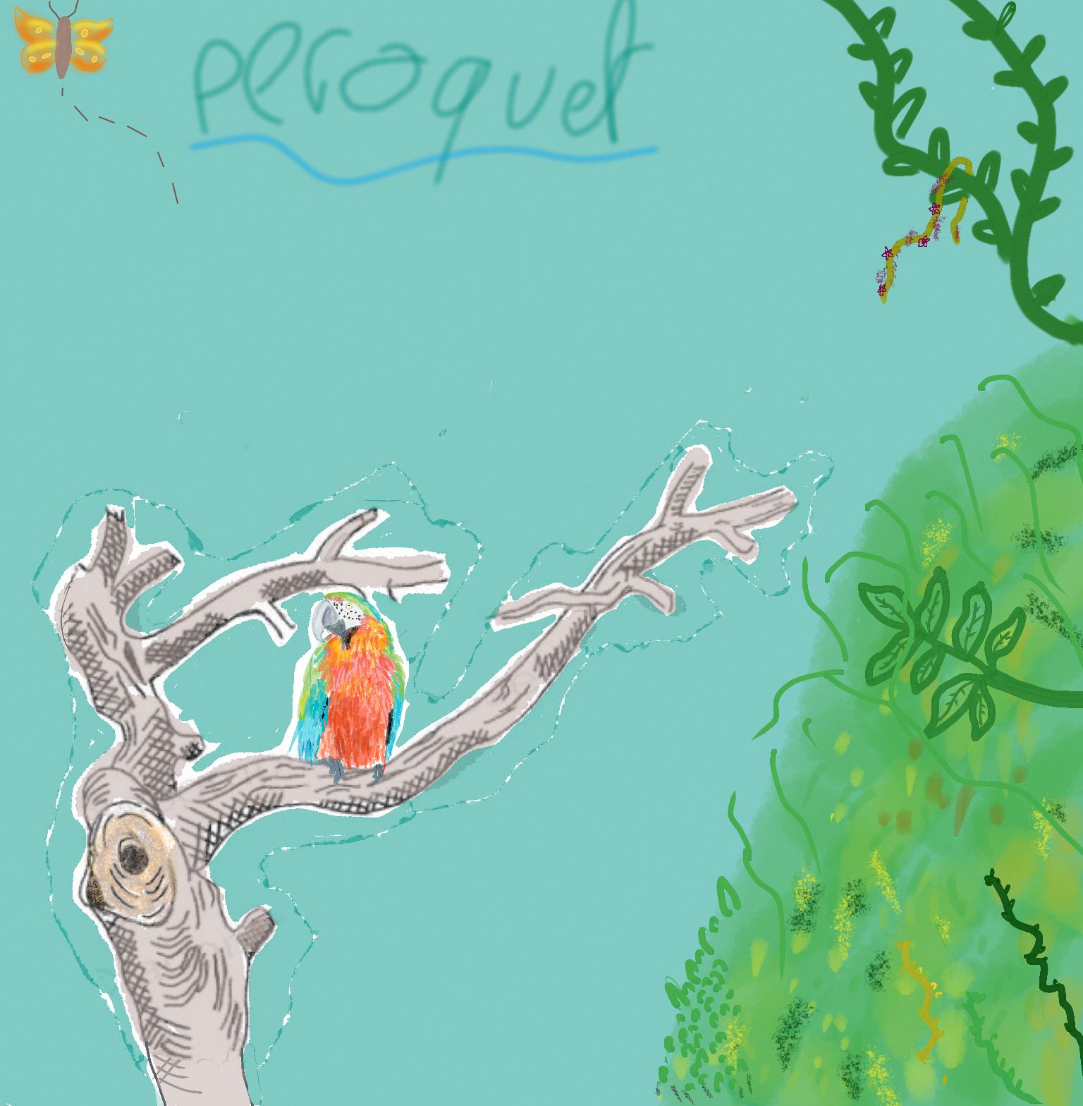 Dessin Perroquet dans la jungle de Noch38