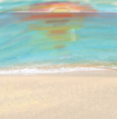 Dessin Coucher de soleil sur l'océan de Noch38