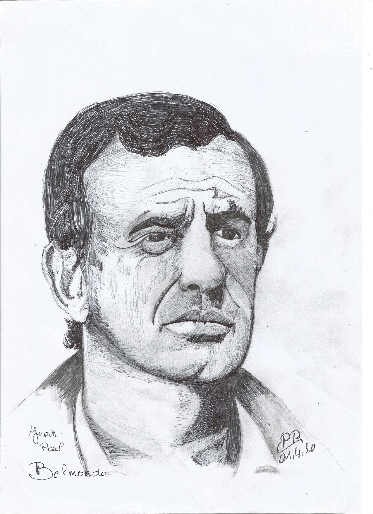 Dessin Jean Paul Belmondo de Patoux