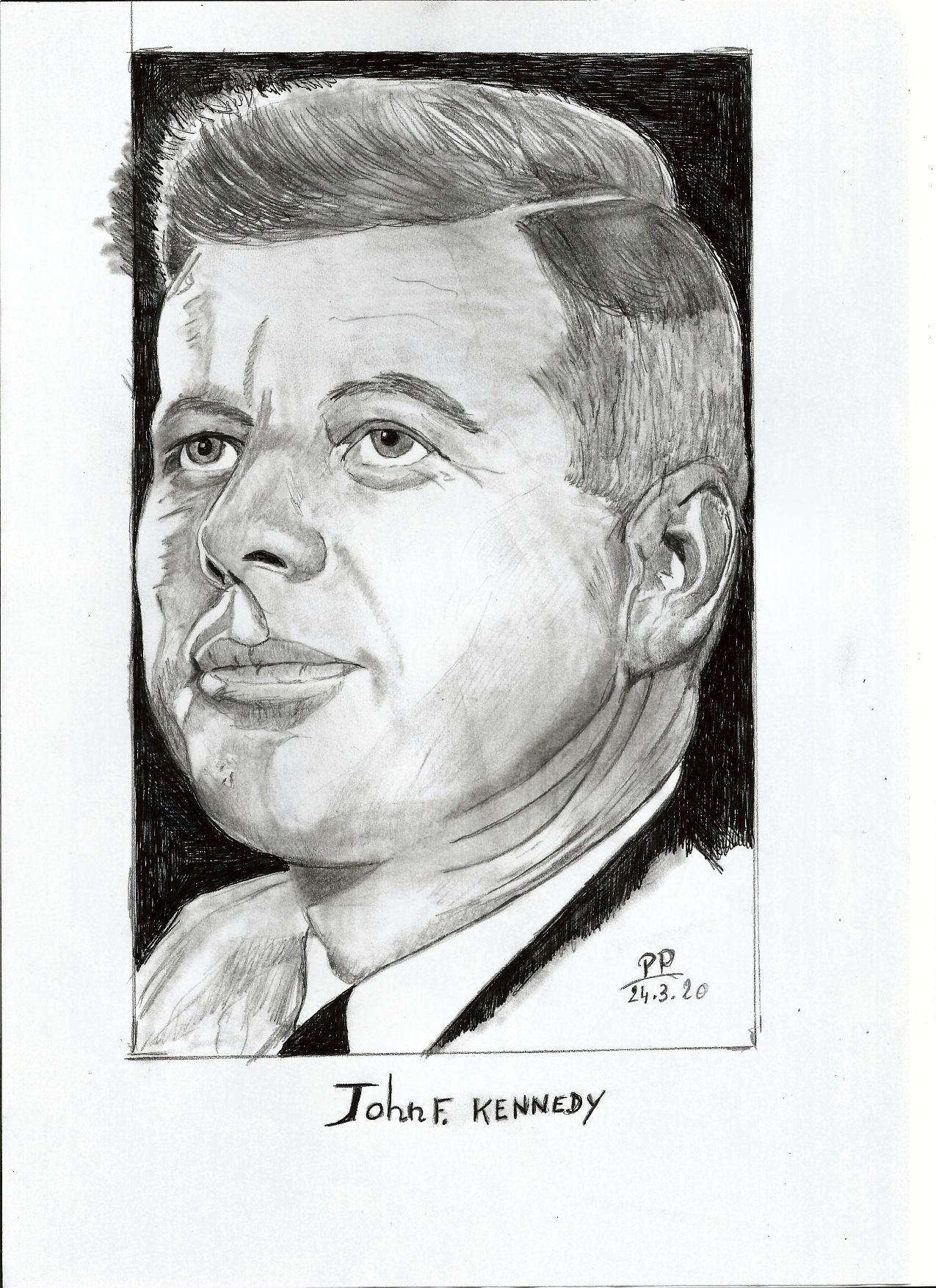 Dessin John F.Kennedy de Patoux