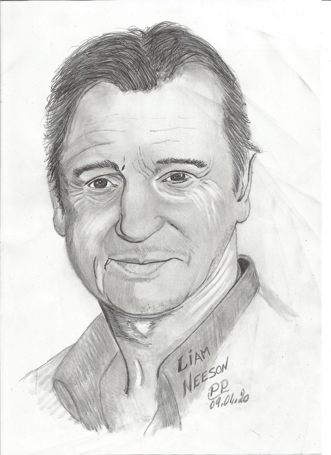 Dessin Liam Neeson de Patoux