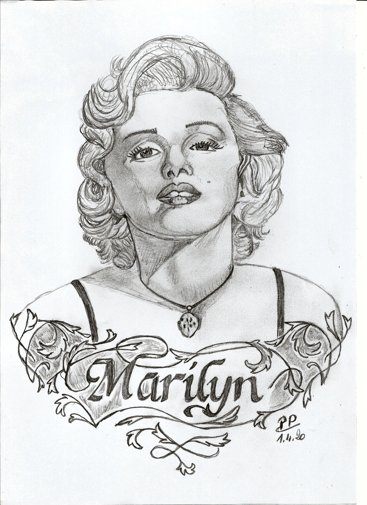 Dessin Marilyn de Patoux