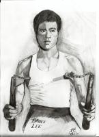 Dessin Bruce Lee de Patoux
