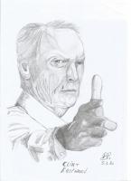 Dessin Clint Eastwood de Patoux