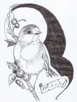 Dessin L oiseau de Patoux