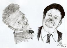 Dessin Laurel & Hardy de Patoux