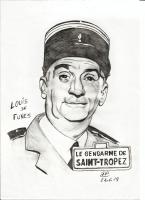 Dessin Louis De Funes de Patoux