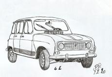 Dessin Renault 4 de Patoux