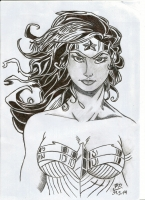Dessin Wonder Woman de Patoux