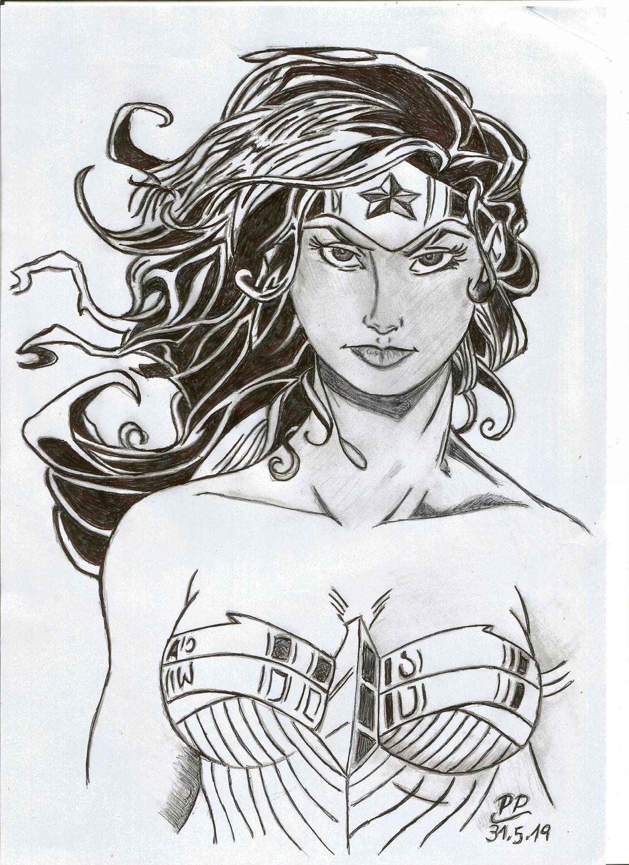Dessin Wonder Woman de Patoux