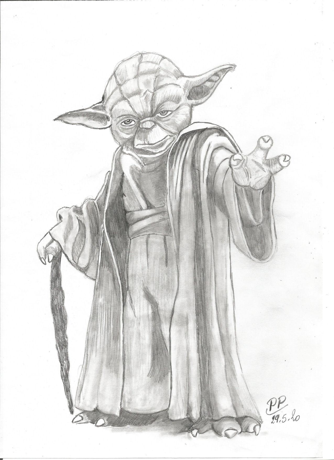 Dessin Yoda de Patoux