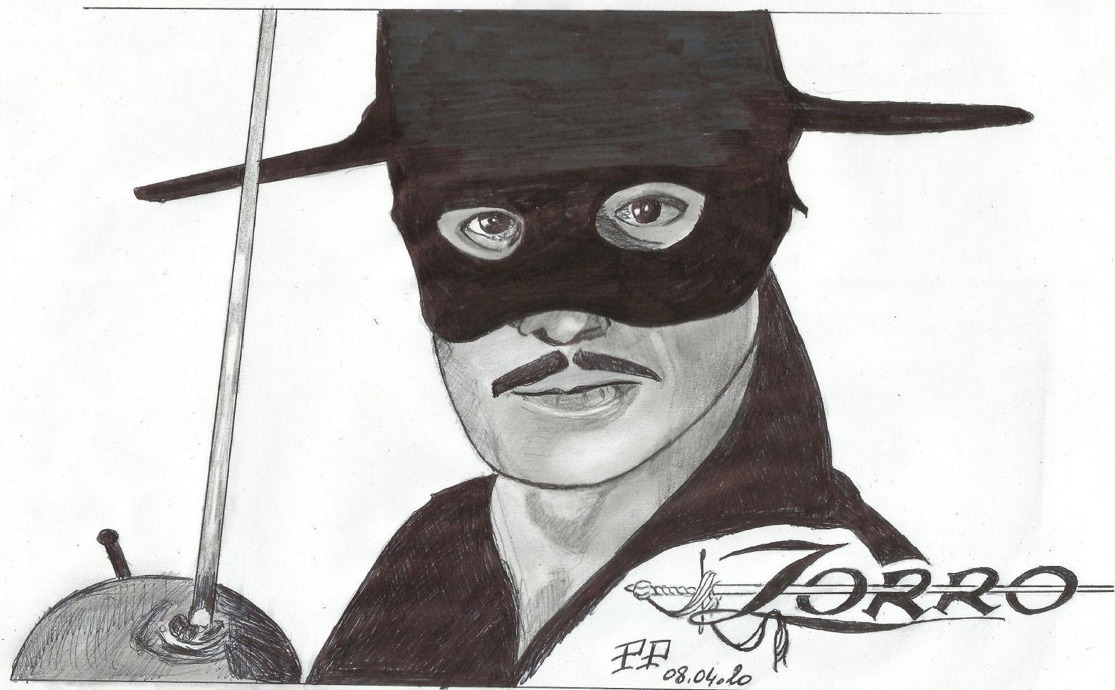Dessin Zorro de Patoux