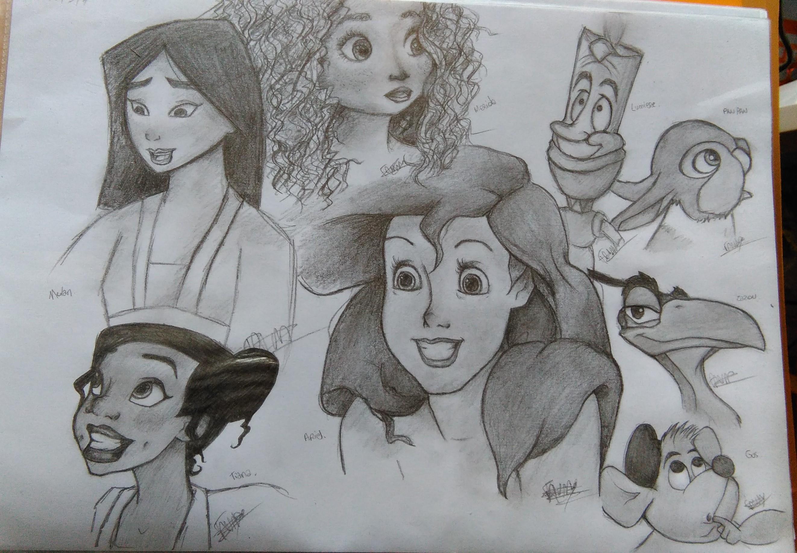 Dessin Brouillon   Disney de FannyDraw