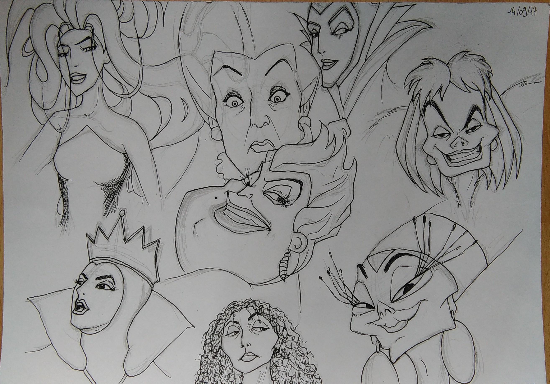 Dessin Méchantes   Disney de FannyDraw