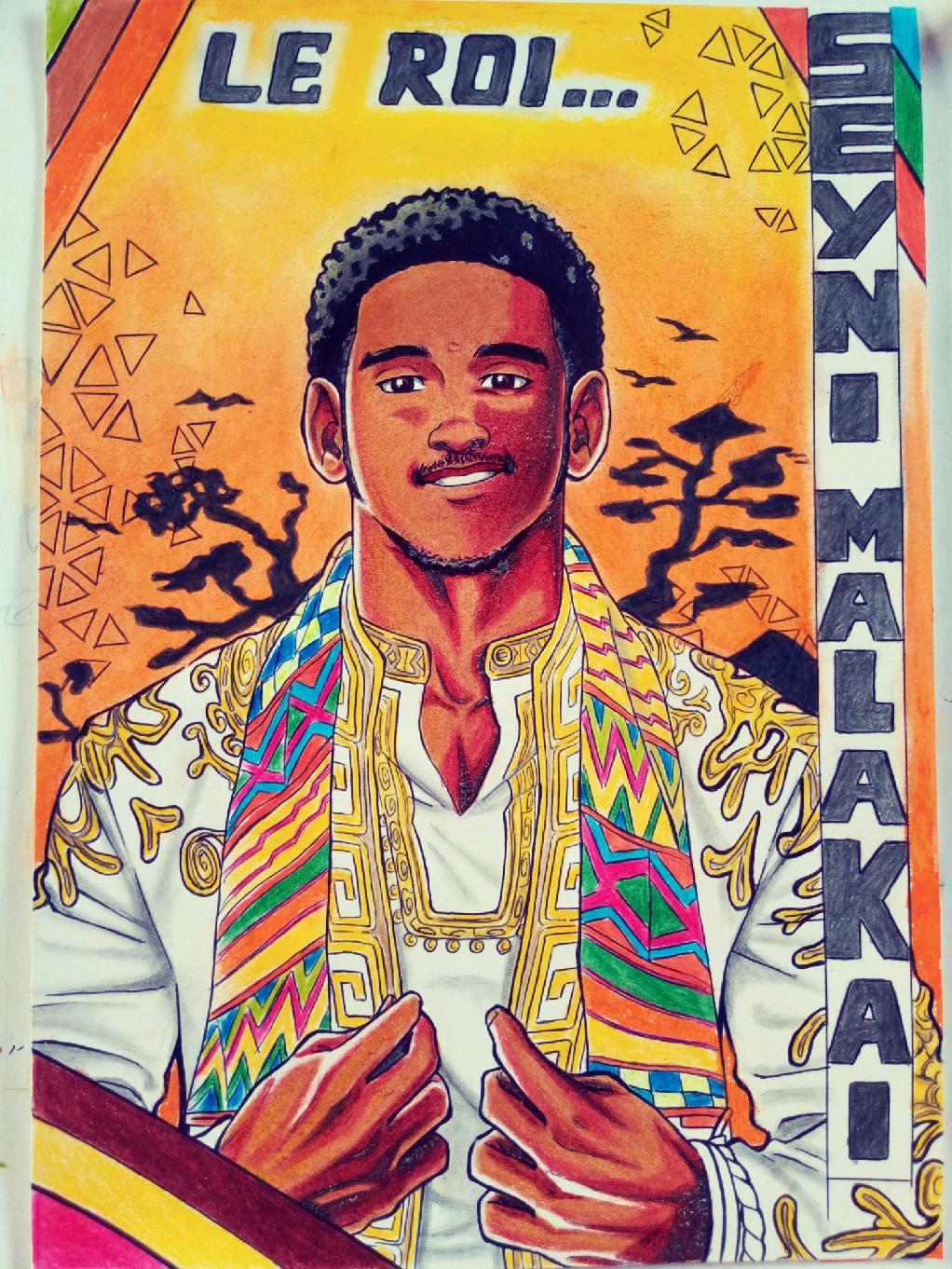 Dessin The King Seyni Malakai de Authorzero