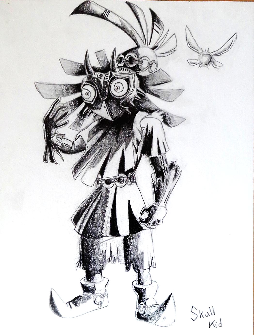 Dessin Skull Kid de Midona