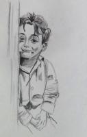 Dessin Portrait gamin de Midona