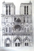 Dessin Notre Dame de Paris de Midona