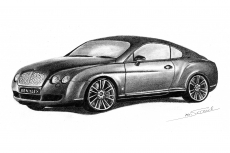 Dessin Bentley continental de Mr_Scrawl