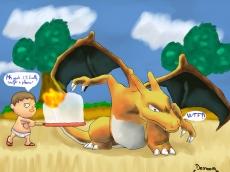 Dessin Le villageois veut devenir dresseur de pokemon! de Demoons