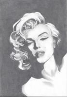 Dessin Portrait Marylin Monroe N&B de Anthara