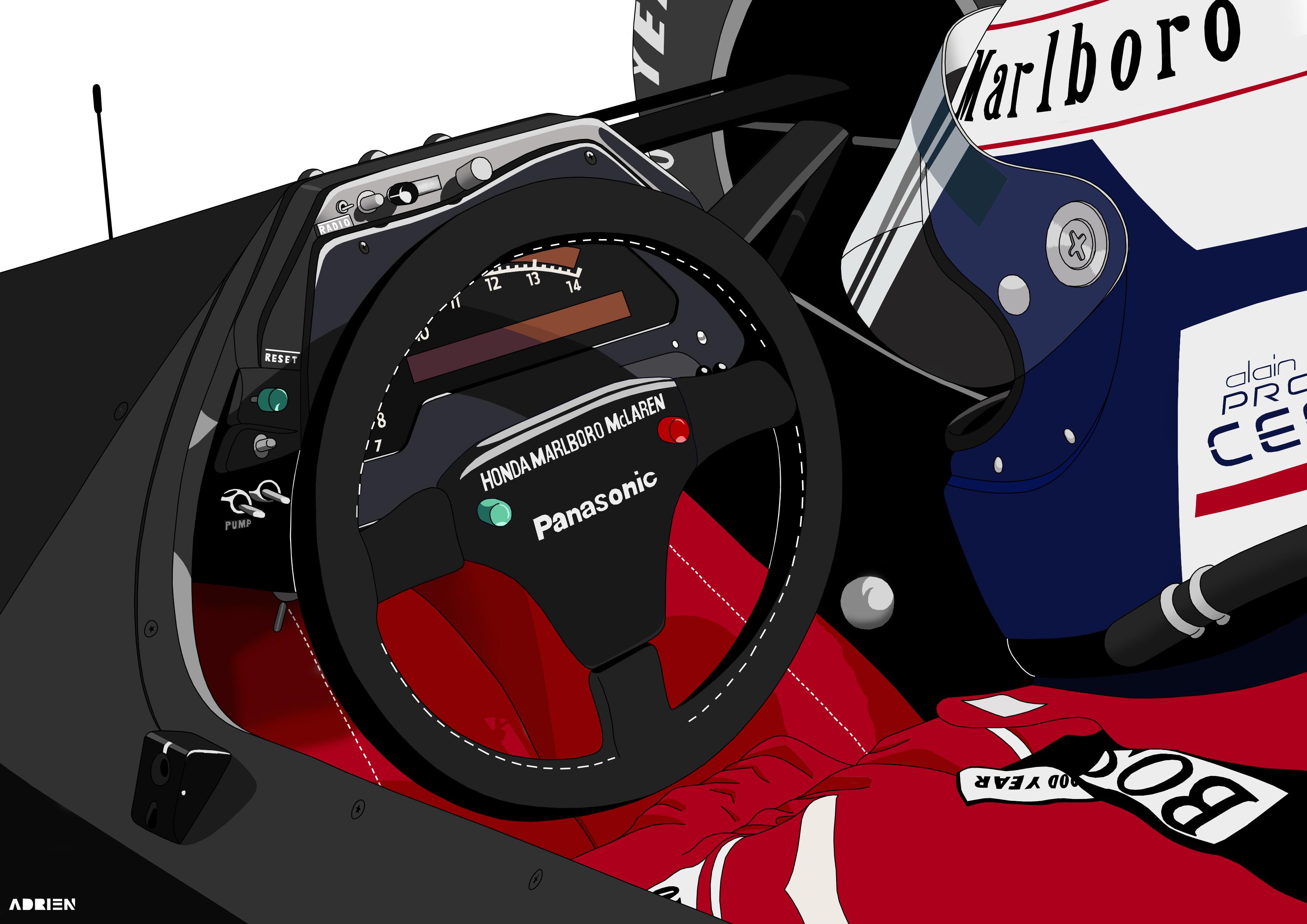 Dessin Alain Prost couleur de Adrien72140