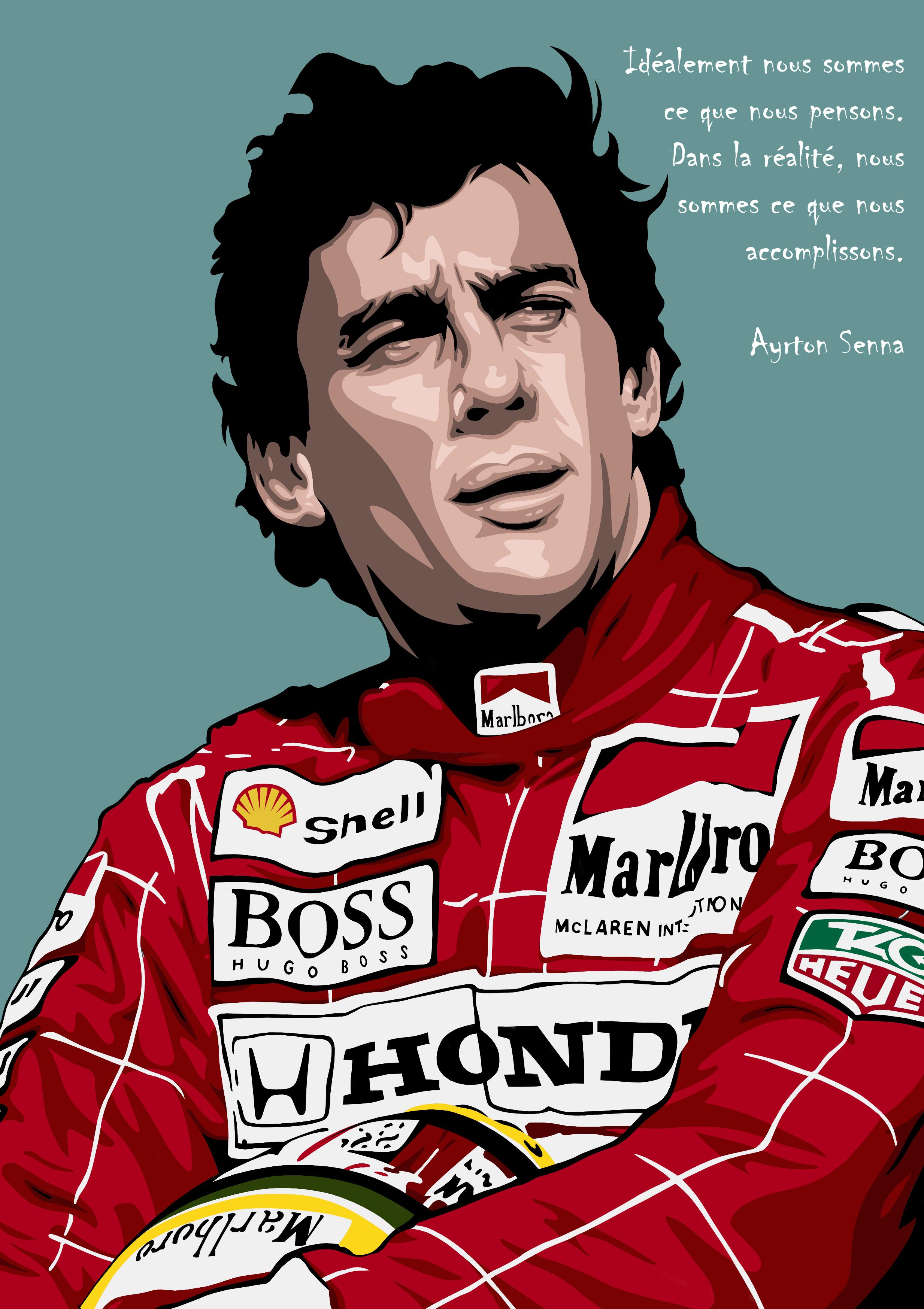 Dessin Ayrton Senna couleur de Adrien72140
