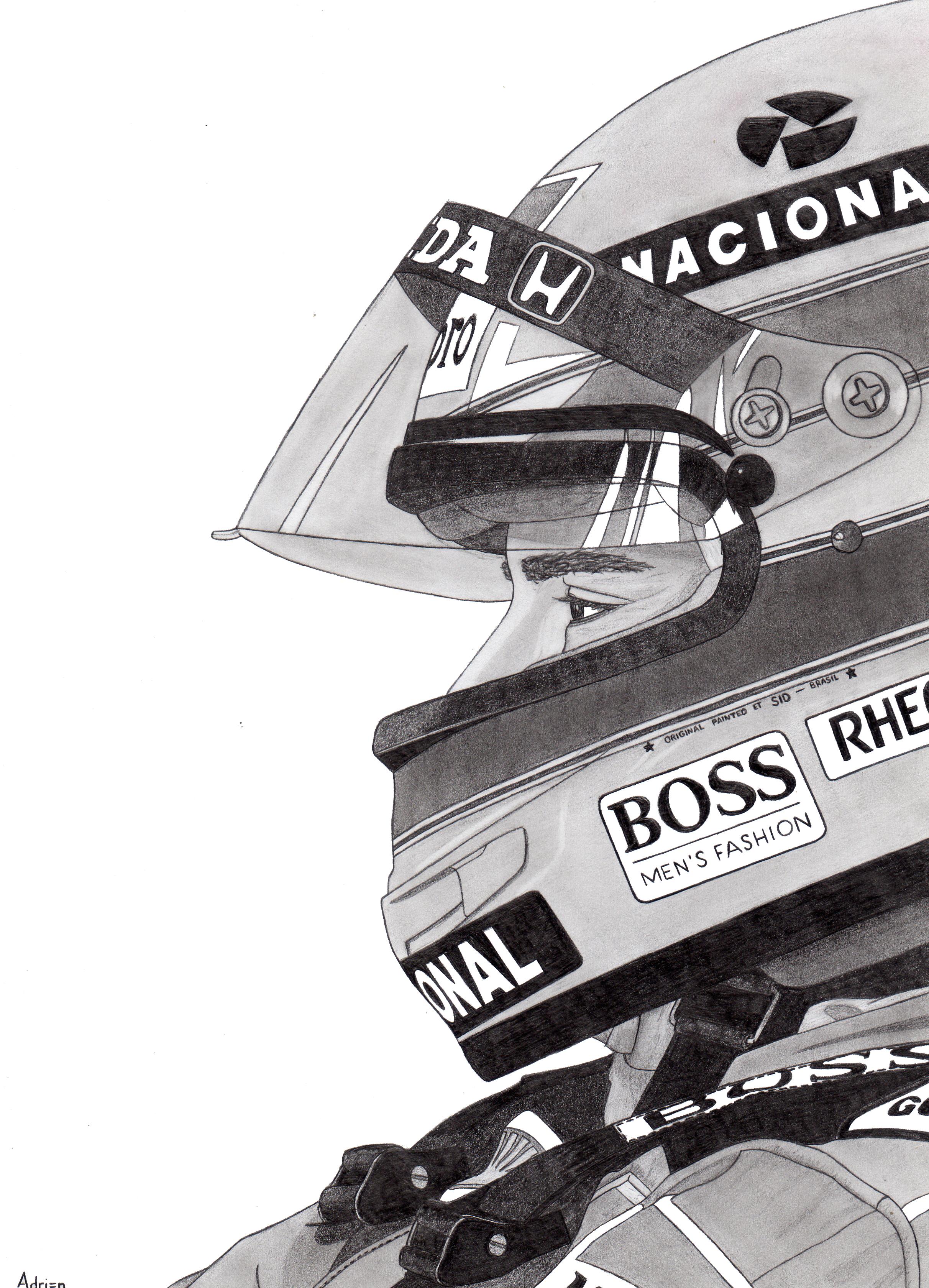 Dessin Ayrton Senna de Adrien72140