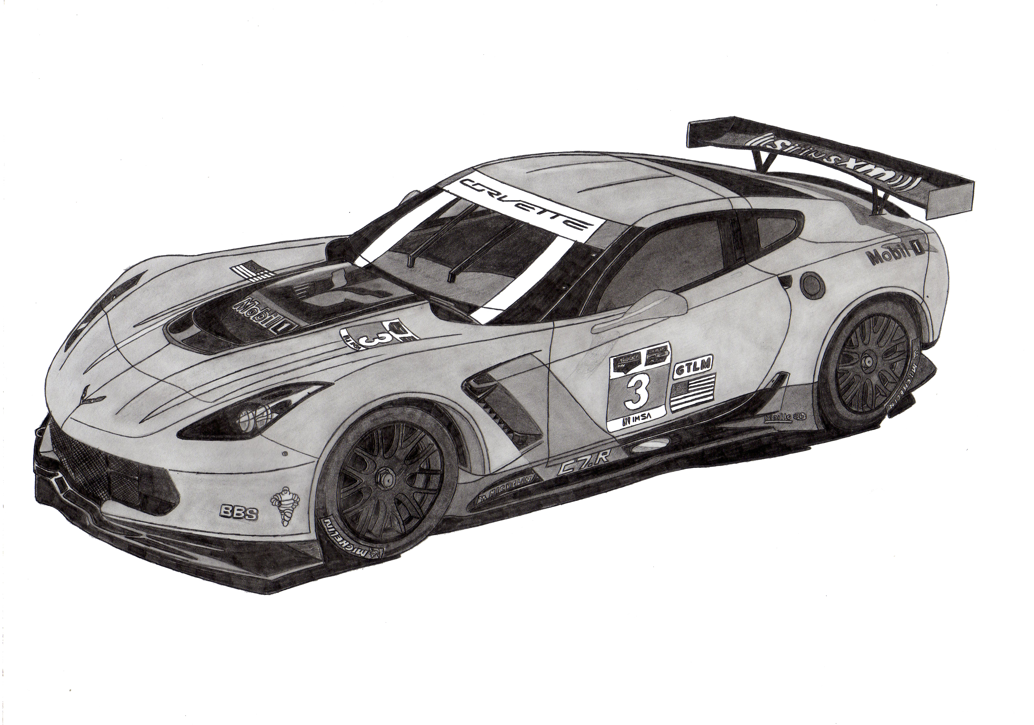 Dessin Corvette Racing C7R de Adrien72140