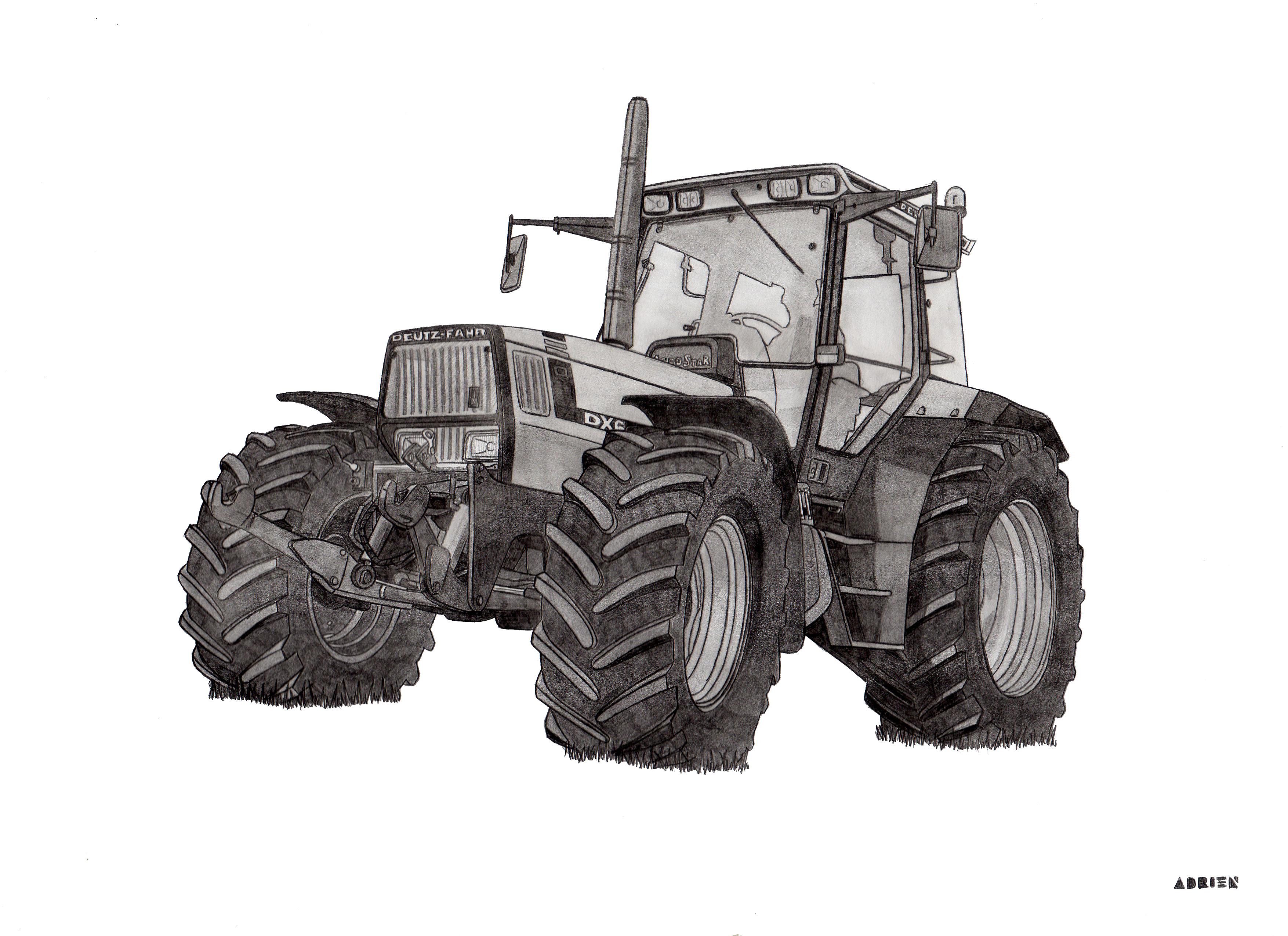 Dessin deutz fahr dx6 - Tracteur a colorier ...