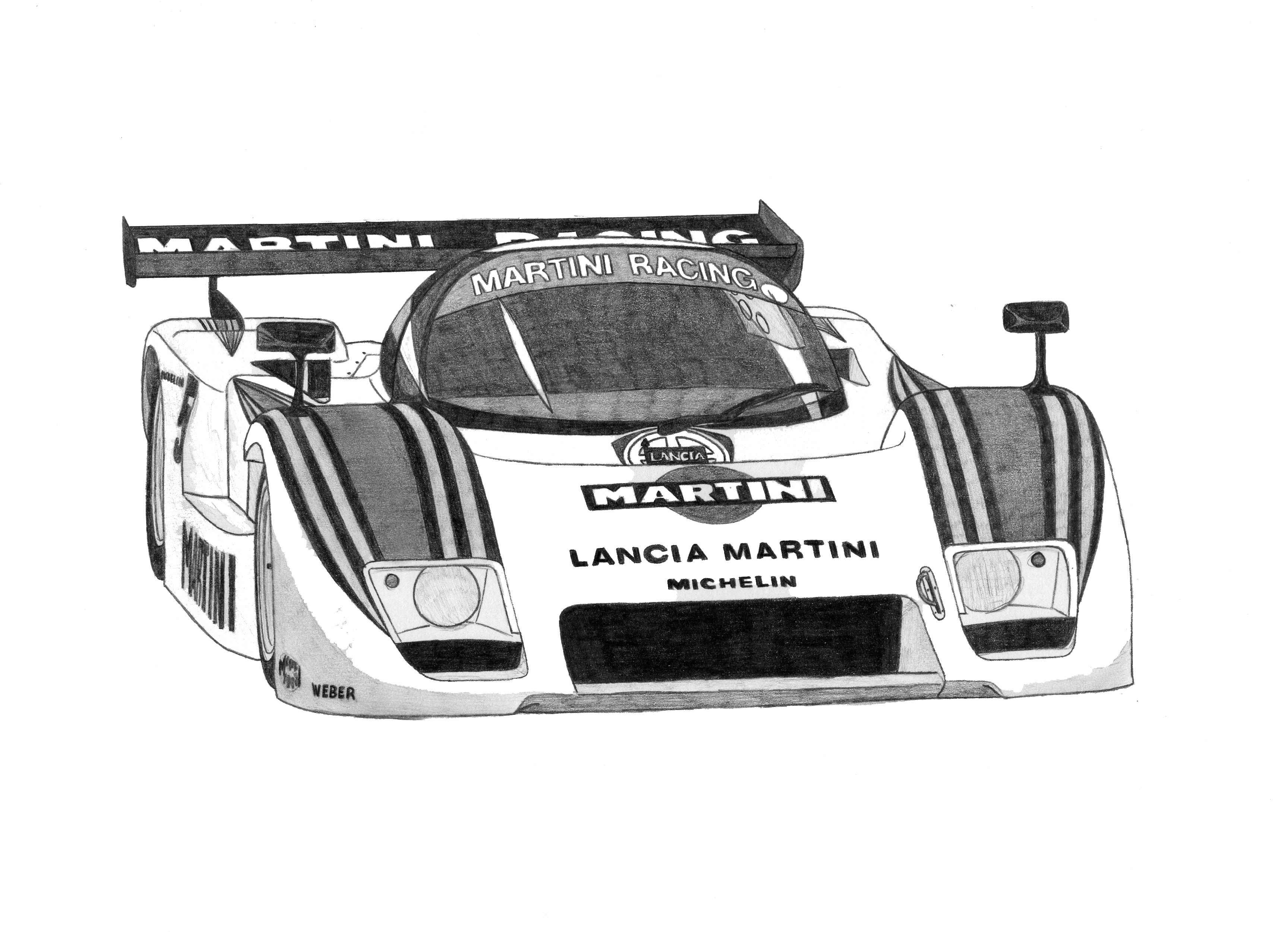 Dessin Lancia LC2 de Adrien72140