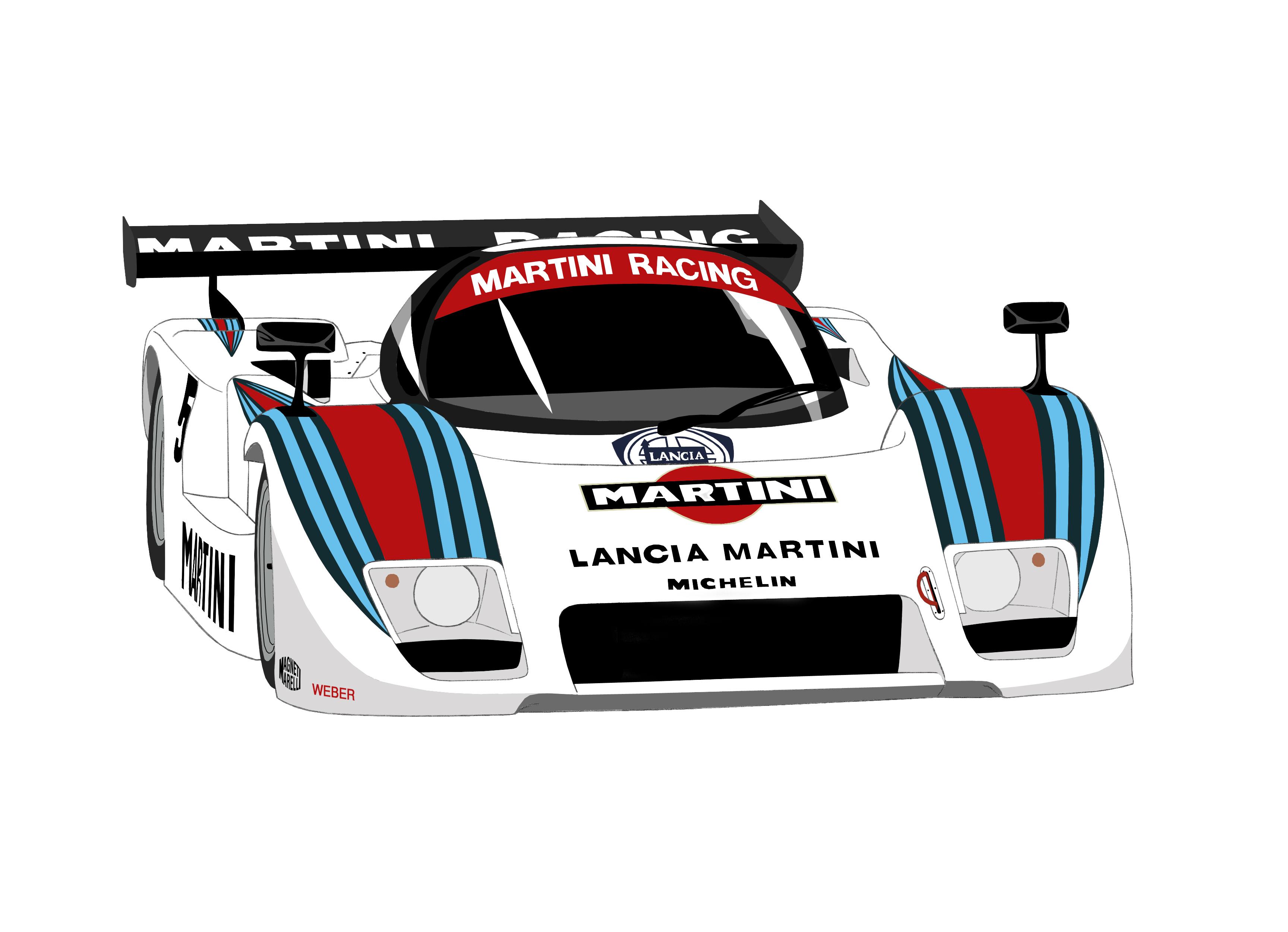 Dessin Lancia Martini Racing couleur de Adrien72140