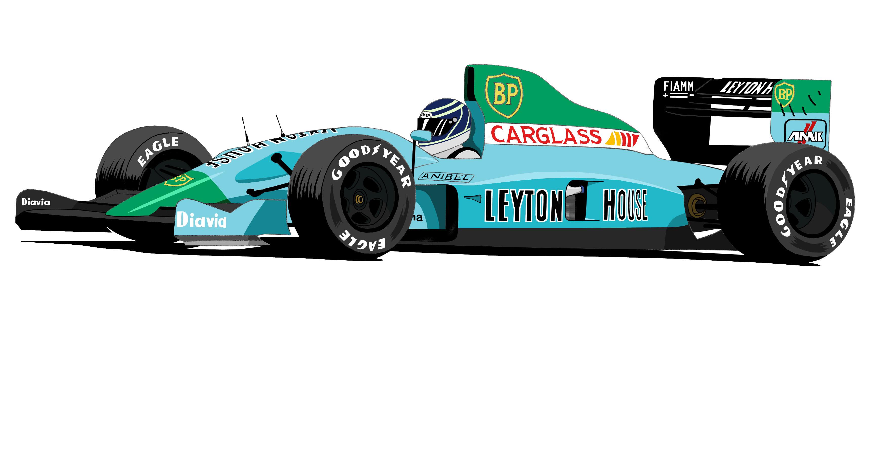 Dessin Leyton House F1   Couleur de Adrien72140