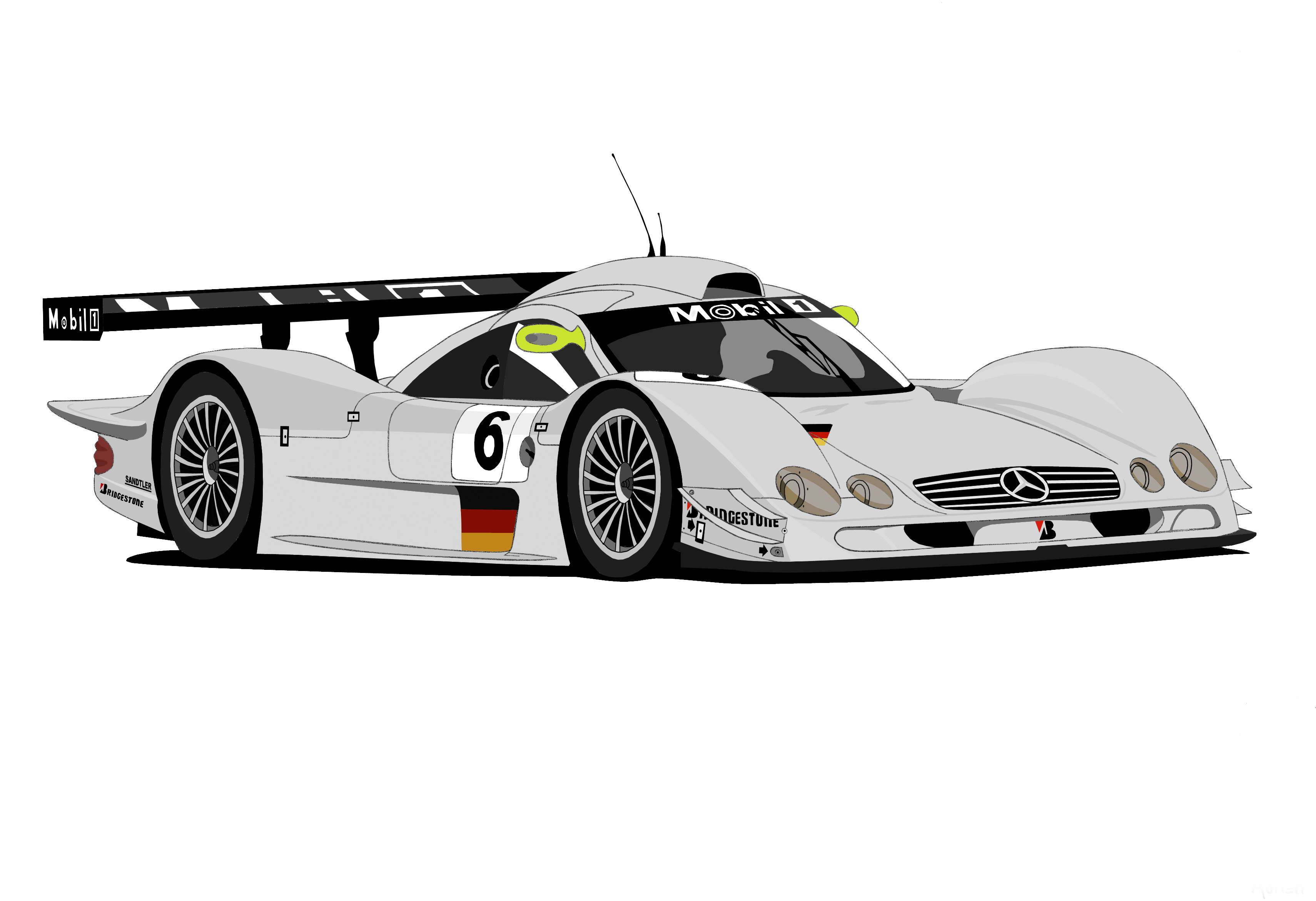 Dessin Mercedes Benz CLR 99' couleur de Adrien72140