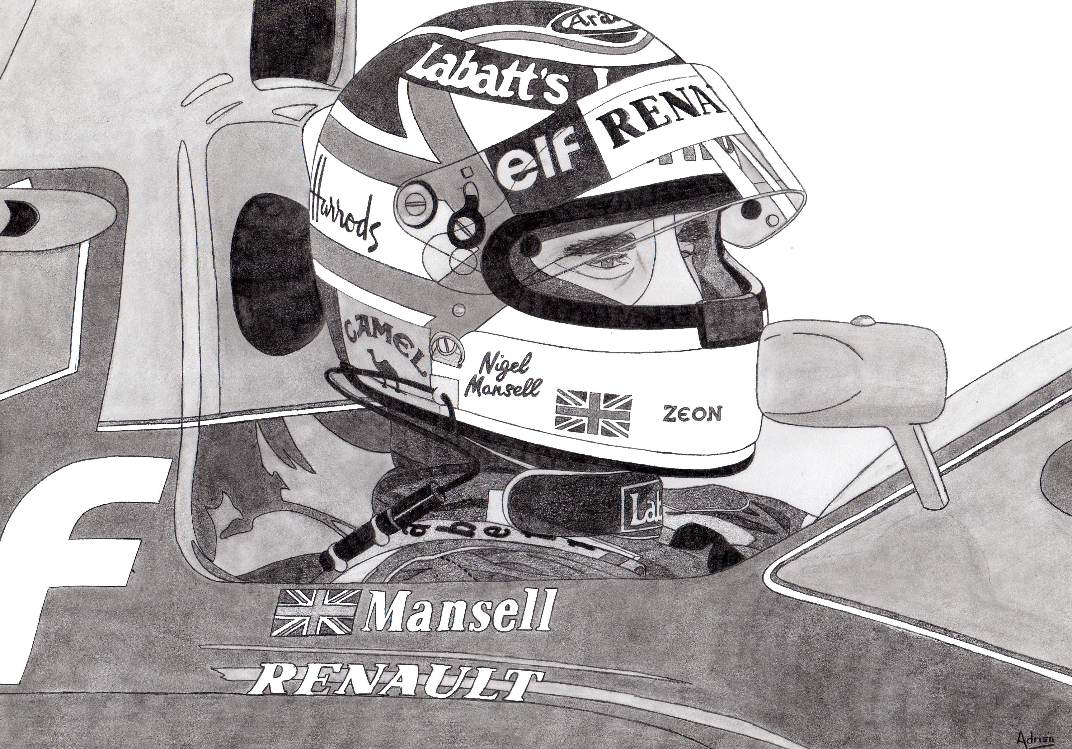 Dessin Nigel Mansell de Adrien72140