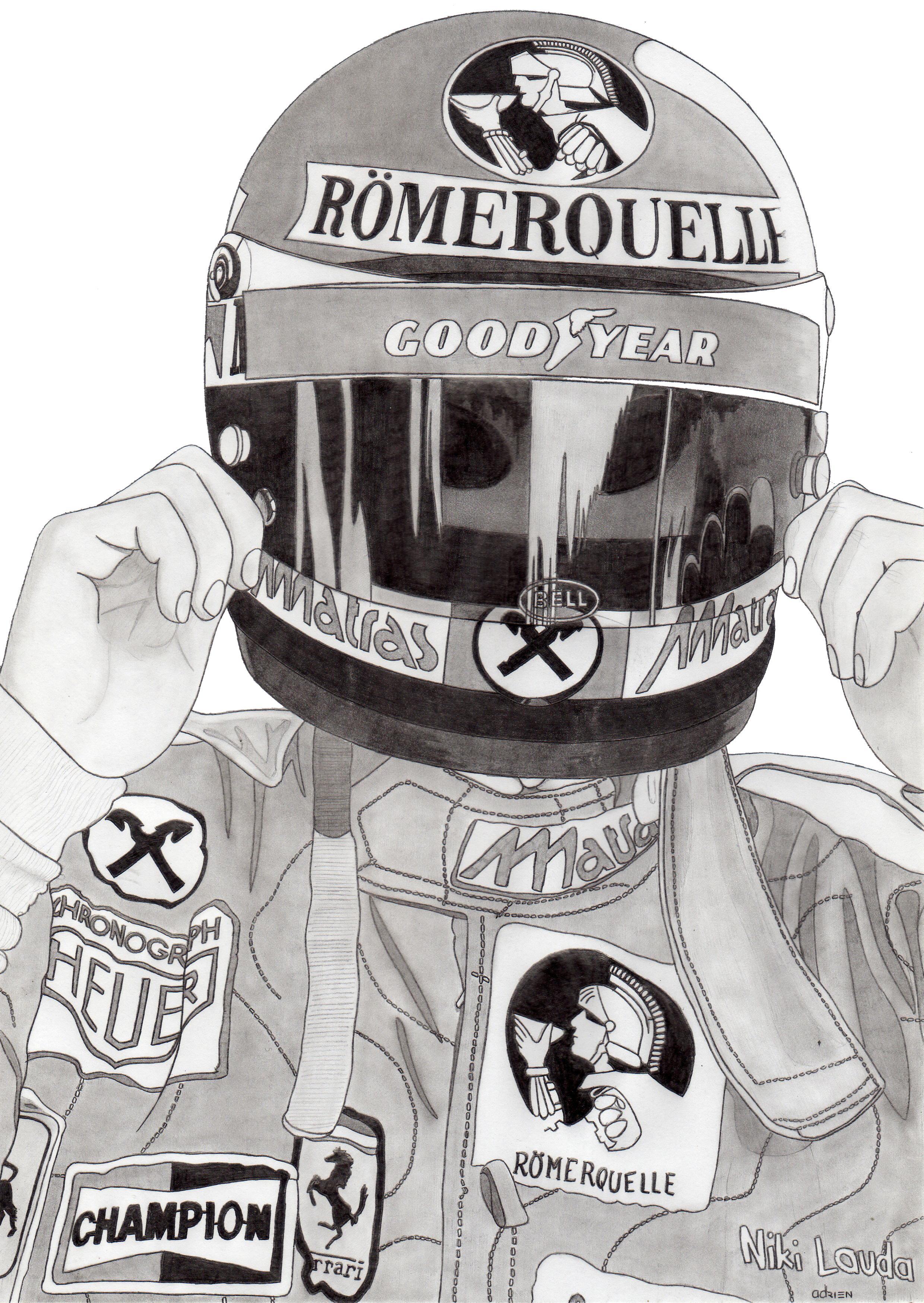 Dessin Niki Lauda de Adrien72140