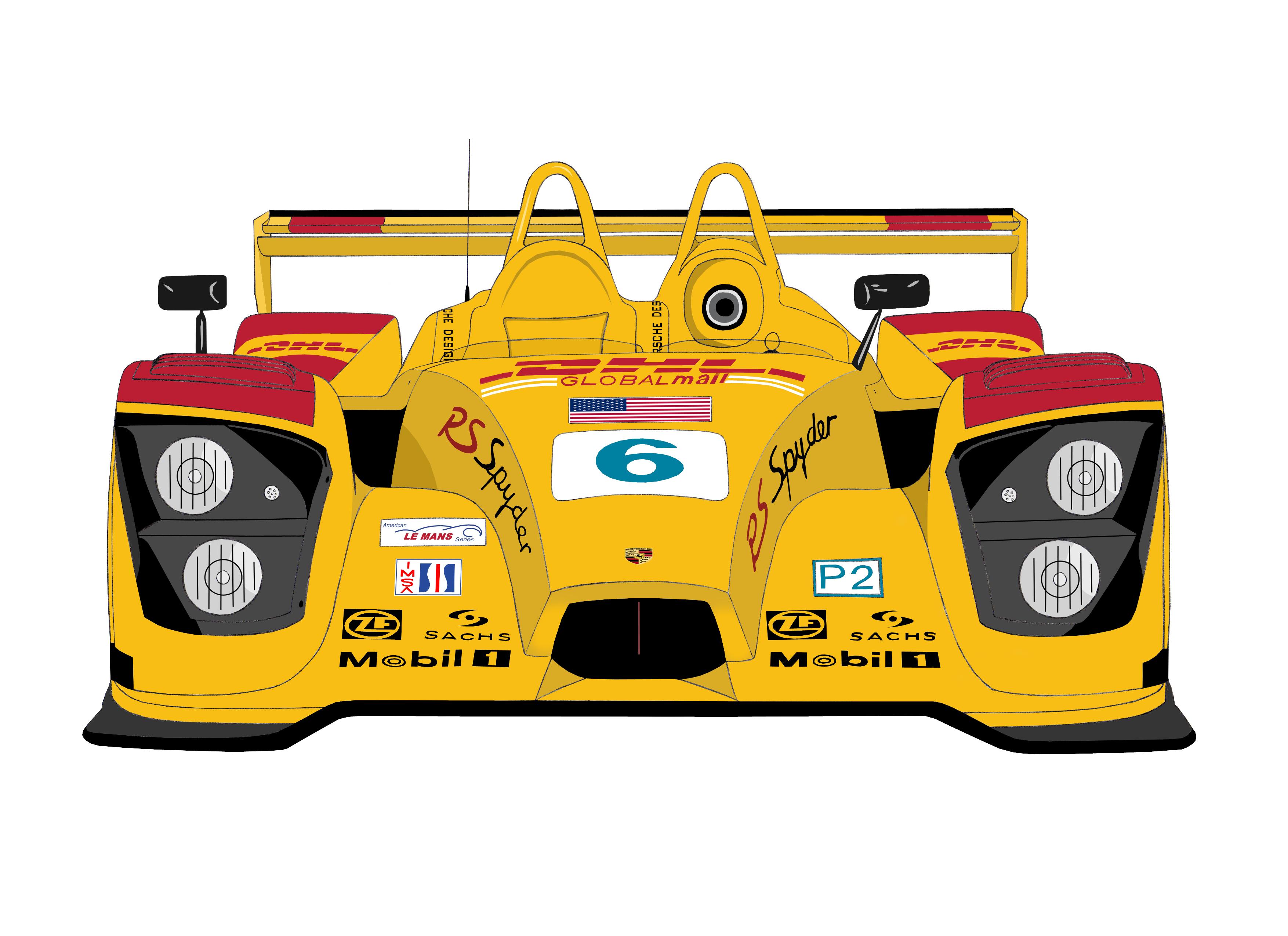 Dessin Porsche RS spyder couleur de Adrien72140