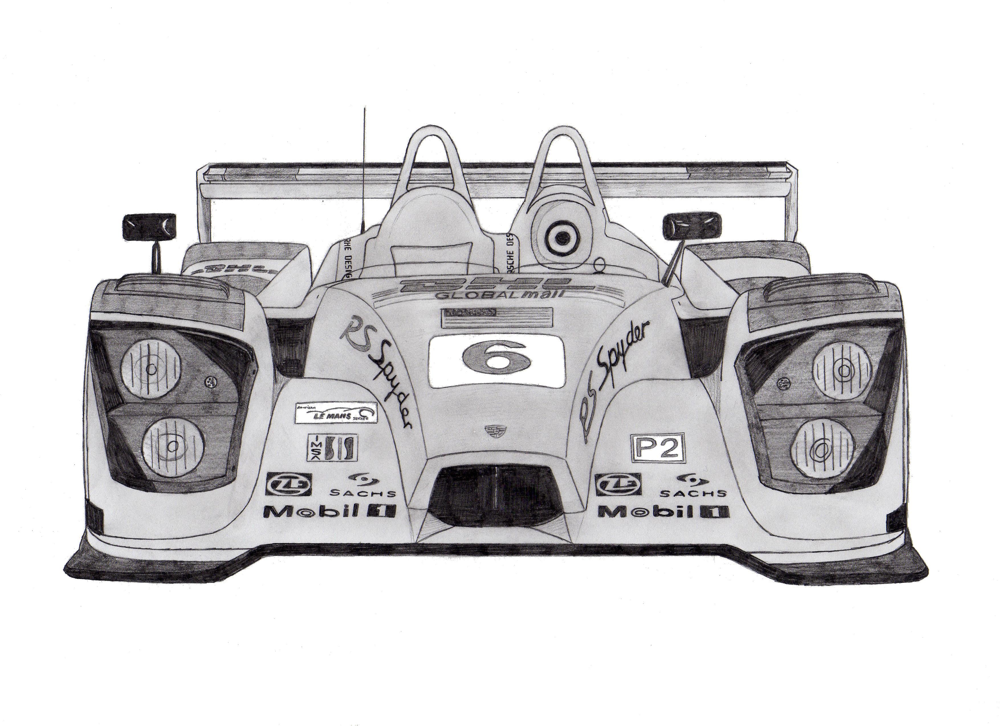 Dessin Porsche RS spyder de Adrien72140