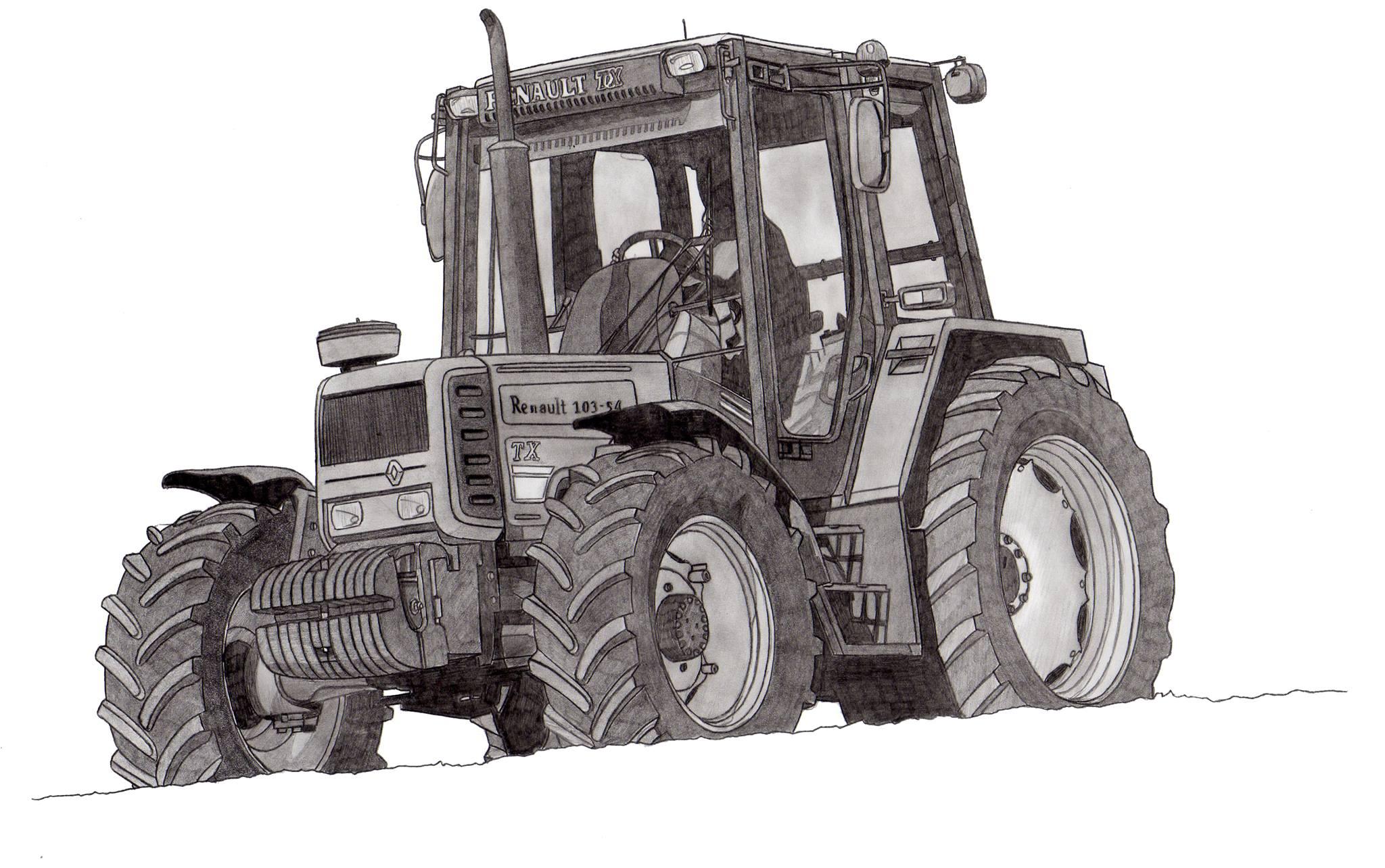 Dessin renault 103 54 tx - Tracteur a colorier ...