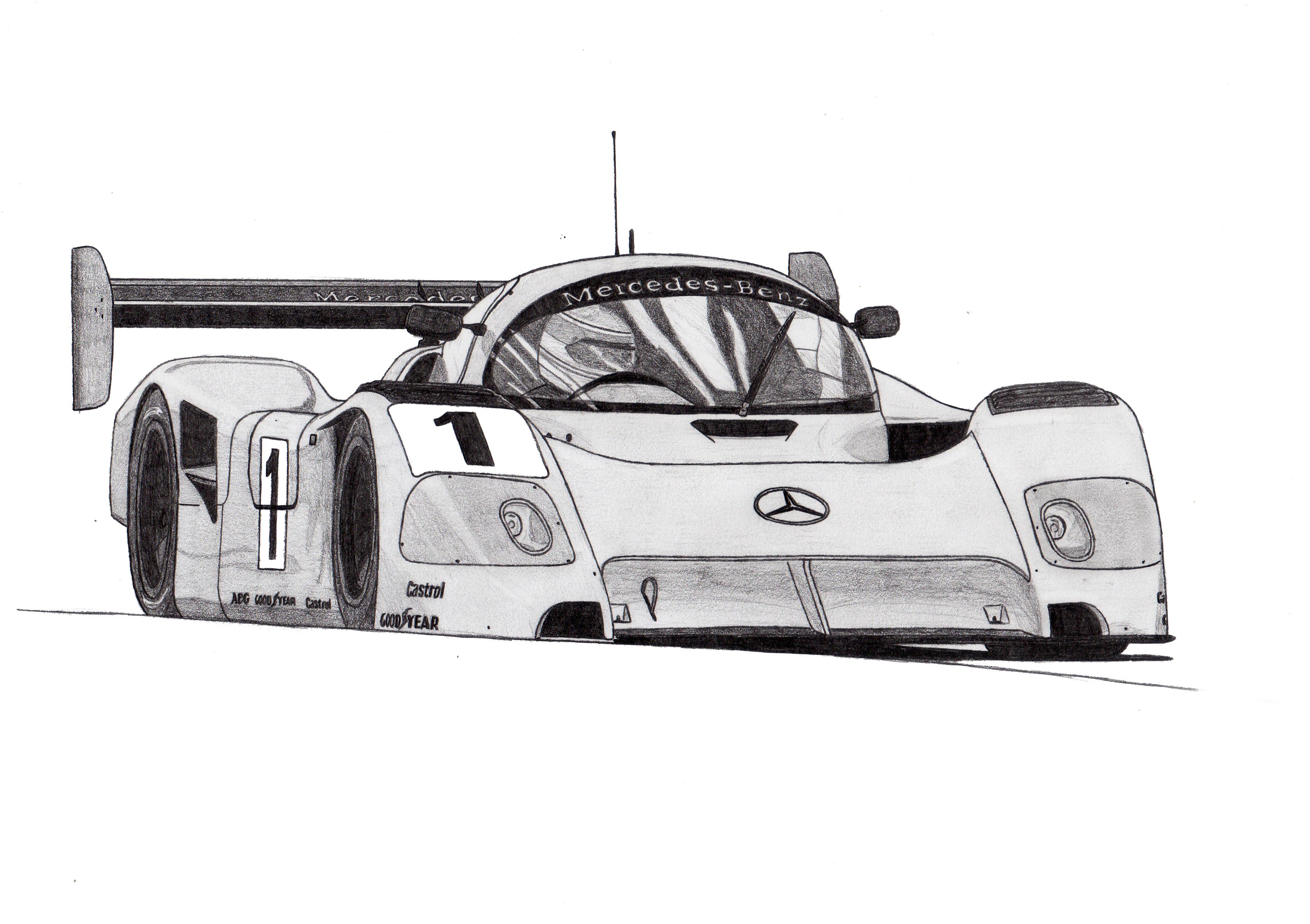 Dessin Sauber Mercedes C11 de Adrien72140