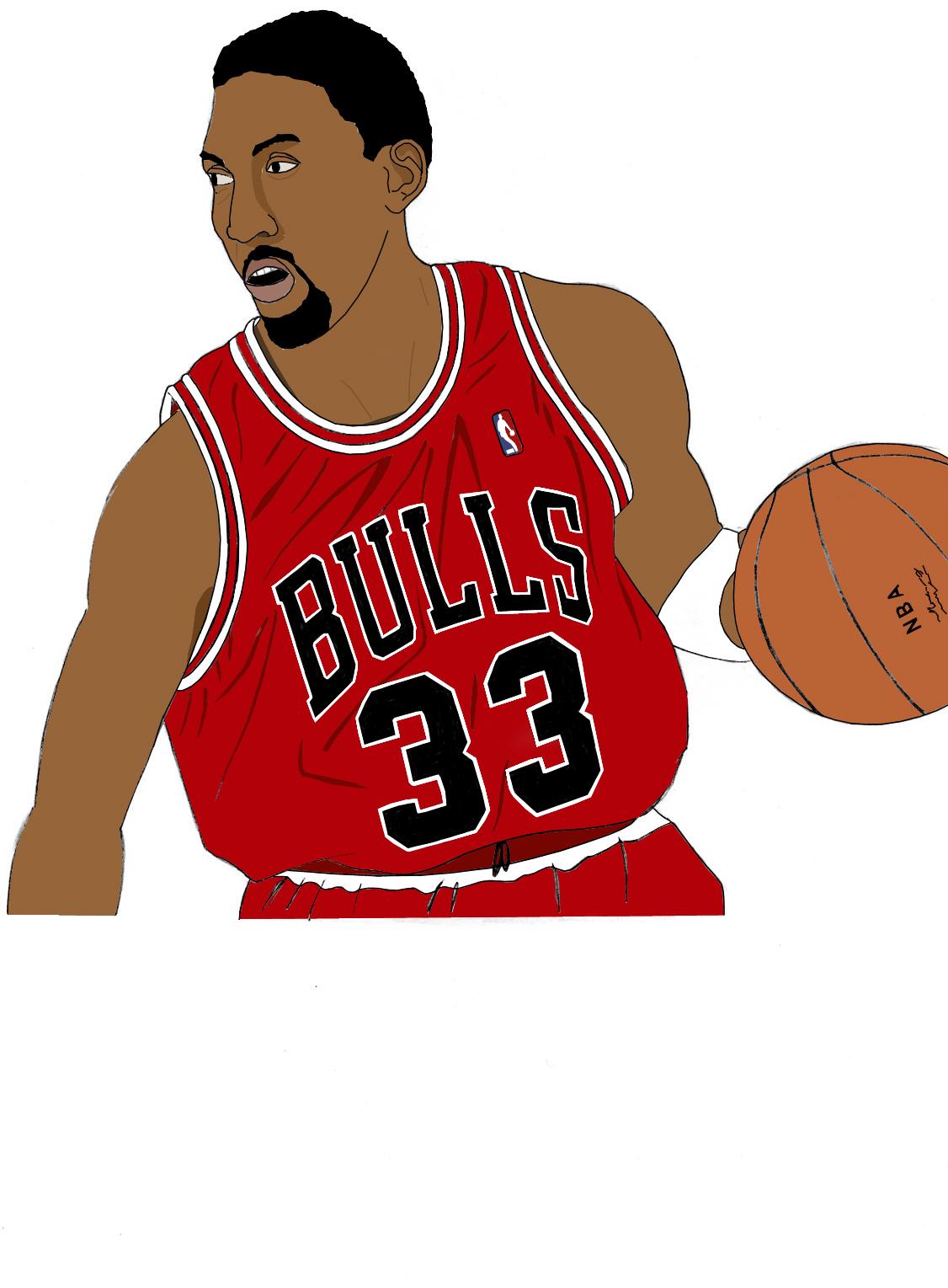 Dessin Scottie Pippen couleur de Adrien72140