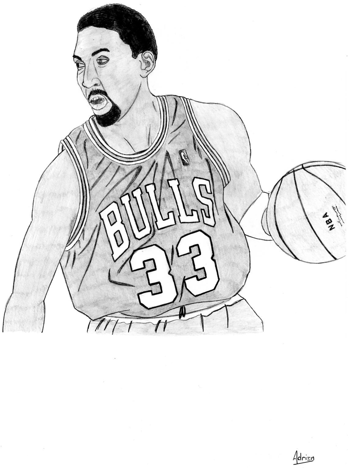 Dessin Scottie Pippen de Adrien72140