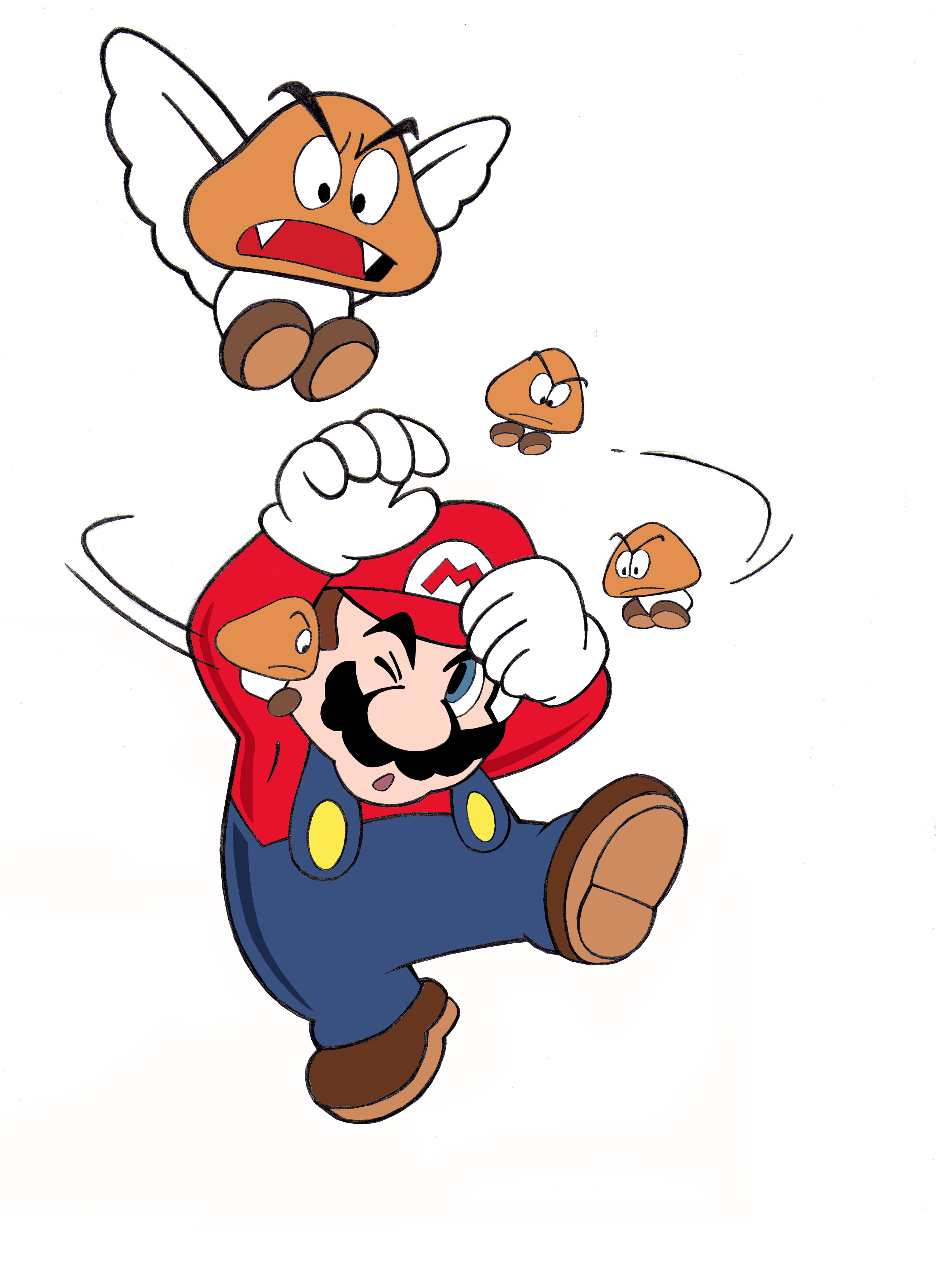 Dessin Super Mario couleur de Adrien72140