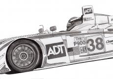 Dessin Audi R8 LMP 900 de Adrien72140