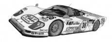 Dessin Dauer Porsche 962LM de Adrien72140