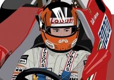 Dessin Gilles Villeneuve couleur de Adrien72140